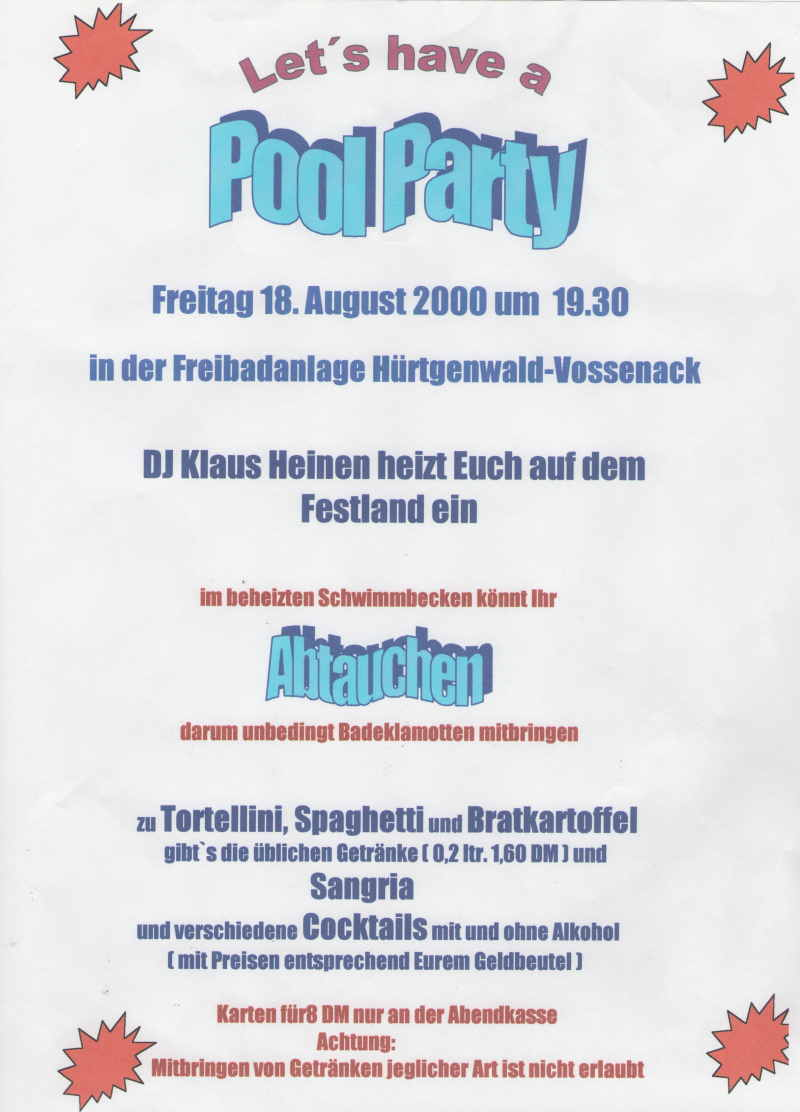 2000_Plakat_Pool_Party