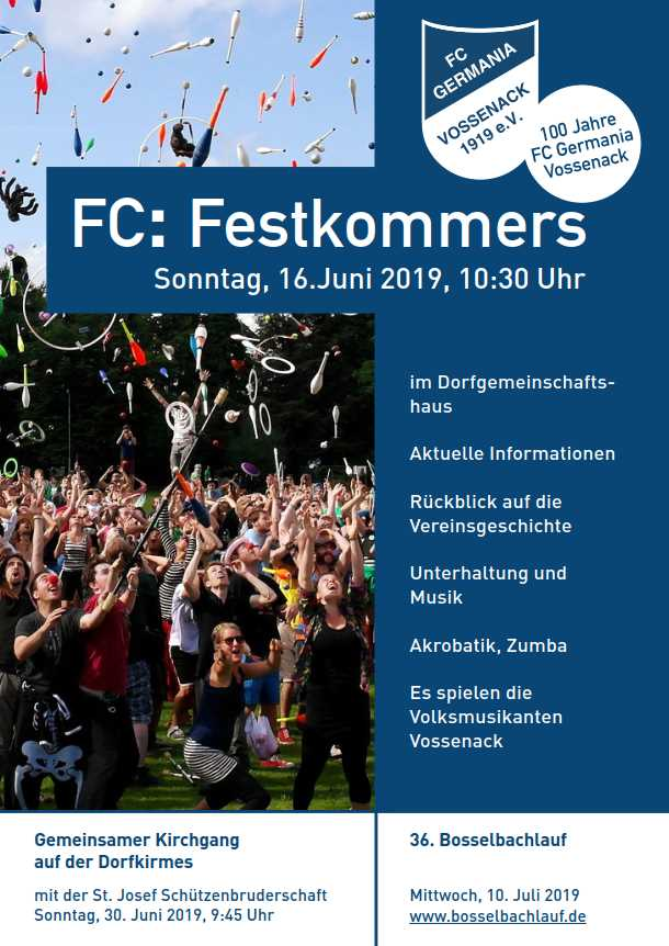 Festkommers 100 Jahre FC Germania Vossenack